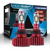 Carrfan LED Phares de véhicules à Moteur à LED Hi/Lo Beam 9005 HB3 60W 10000LM Ampoules antibrouillard