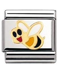 Nomination Composable Classic TIERE - LUFT Edelstahl, Email und 18K-Gold (Biene) 030211
