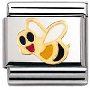 Nomination Composable Classic TIERE – LUFT Edelstahl, Email und 18K-Gold (Biene) 030211