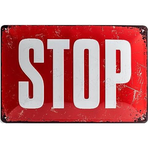 Panneaux Stop - Nostalgic-Art 22252Respect Stop Plaque de, métal, multicolore,