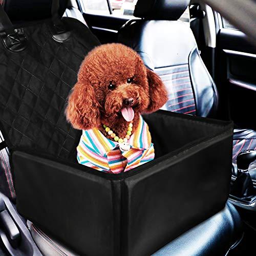 Gifort Hunde Autositz,2 in 1 Autoschutzdecke Hunde Autositzbezug Autositz Für Haustier Rutschfester Wasserdichter Single Front Seat für Kleine Hunde und Katzen