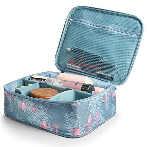 Reise-Make-up-Taschen Cosmetic Case Organizer Tragbare Aufbewahrungstasche Kosmetik Make-up Pinsel Kulturbeutel Zubehör (Blau) - Make-up Pinsel Case