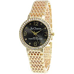 Gold Watch So Charm Made with Swarovski Crystals from 46