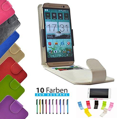 4 in 1 set ikracase Slide Flip Hülle für HiSense HS-U970E-8 Smartphone Tasche Case Cover Schutzhülle Smartphone Etui in Weiß