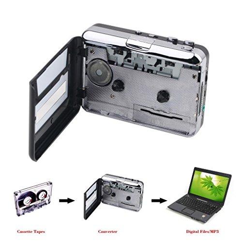 Lychee Tragbar Tape zu Kassetten Konverter mit PC Anschluss CD USB Converter Capture Digital Audio Musik Player (Kassette-zu-usb-konverter)