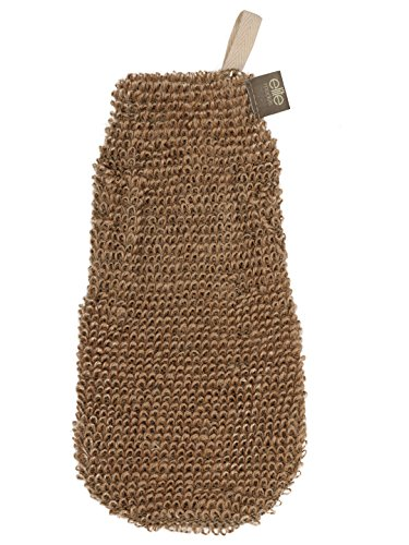 Elite Models (France) Premium Jute Glove / Bath Brush / Scrubber / Sponge for Smoothing | Imported Spa Collection Scrub Loofah for Men, Women and Kids