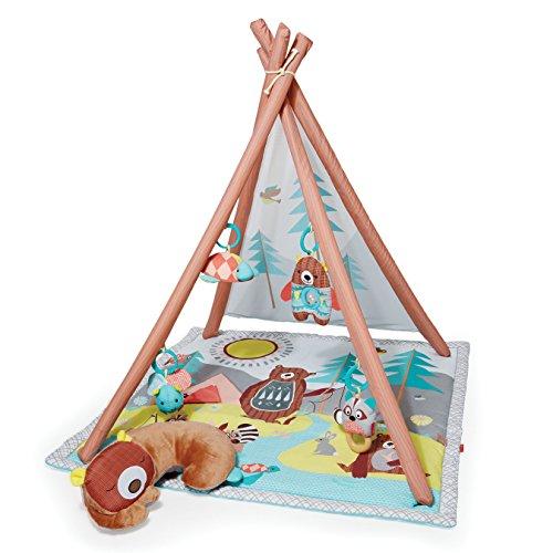 Skip Hop Camping Cubs Activity Gym Krabbeldecke, Spielbogen Teepee, mehrfarbig (Baby Gym)