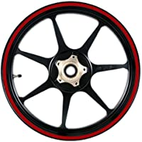 Deep Red 16 to 19 inch Motorcycle, Scooter, Car & Truck Wheel Rim Stripes 1/4 inch or 6.5mm wide