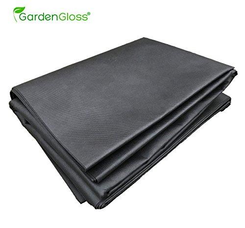 GardenGloss® Premium Gartenvlies Unkrautvlies 100g/m² - Schwarz 1,6m x 5m = 8m² - Wasserdurchlässig, UV-Beständig und Reißfest - Für optimales Wachsen gegen Unkraut mit Frostschutz