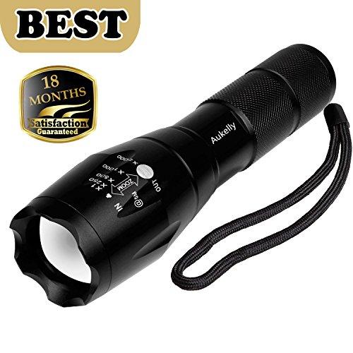 Aukelly 1000 Lumen 5 Modis Einstellbar Wasserdicht Taschenlampen Fokus Zoom Hand-lampe (Single)