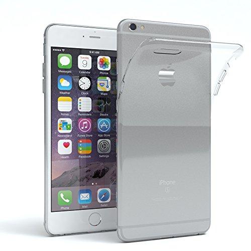 Apple iPhone 6 Plus/6S Plus Schutzhülle Silikon, Ultra Dünn I von Eazy Case I Slimcover, Handyhülle, Silikonhülle, Backcover, Transparent/Durchsichtig, Transparent