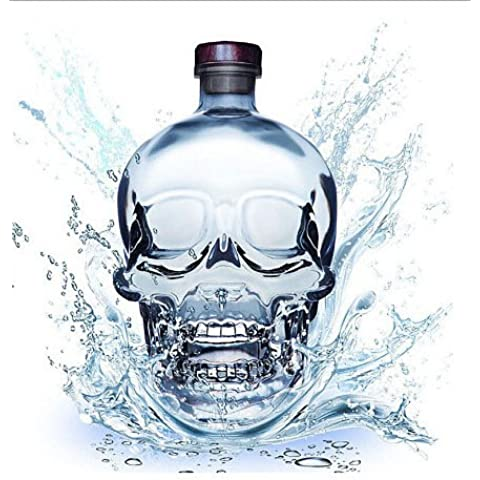 CNMKLM Cabeza cráneo de cristal de vidrio para beber vodka Whiskey Shot Cup Ware Inicio Bar