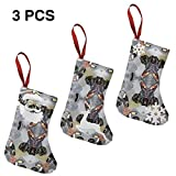 vintage cap Tropical Birds Giftwrap (15961) Christmas Stockings Set of 3 Santa,Snowman,Reindeer,Xmas Decorations