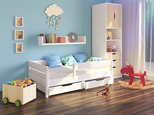 kinderbett mit rausfallschutz g nstig kaufen mit. Black Bedroom Furniture Sets. Home Design Ideas