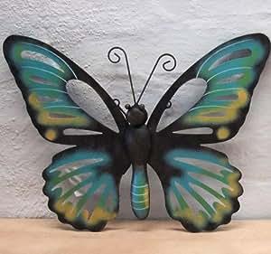 Wanddeko Schmetterling blau Wanddekoration Garten Deko
