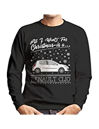 All I Want For Christmas Is A Renault Clio Mens Sweatshirt
