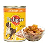 Pedigree Adult Wet Dog Food, Chicken in Jelly – 400 g Can