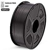 SUNLU Filamento ABS 1.75mm 1kg Impresora 3D Filamento, Precisión Dimensional +/- 0.02 mm, ABS Negro