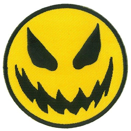Patch Aufnäher zum Aufbügeln Smiley Halloween