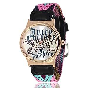 Culater® 1PC Joile Femmes Tricot Tressé Tissé Rope Band Bracelet Quartz Composer Montre Bleu