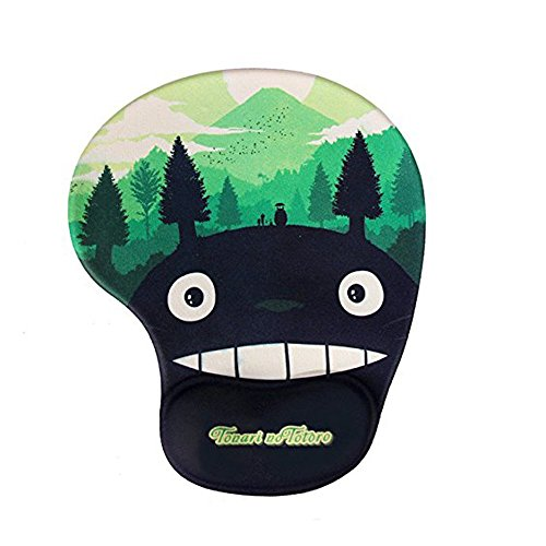 Famixyal Hot High Quality Flexible Silicone Comfort Gel Cartoon Totoro Mouse Pad Optical Mice Mat Ergonomic Support Gel Wrist Rest Mouse Pad Gaming mousepad Child Kids Gift (Grass Green) by Famixyal -