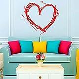 jiuyaomai Día de San Valentín Corazón Pegatinas de Pared Árbol Ramitas Vinilo Extraíble Decoración Creativa para el hogar Sala de Estar Decoración 6 96x86cm