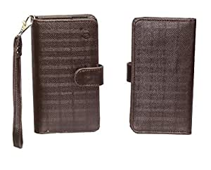 Jo Jo A9 D4 Leather Carry Case Cover Pouch Wallet Case For Zopo Speed 7 Brown
