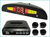 CARALL Kit 4 Sensore di Parcheggio Wireless Senza Filo Display LED Cicalino SB-323S-4