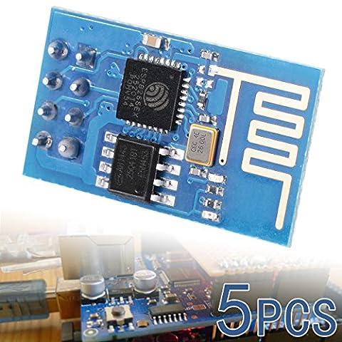 XCSOURCE® 5STK ESP8266 Esp-01 Serielles W-LAN Kabelloses Empfänger Modul Senden Empfangen LWIP AP+STA TE139