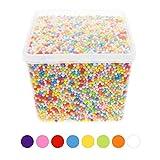 Euiristore Styrofoam balls 0.1–0,4cm per Slime DIY casa School Arts Crafts, palline in schiuma di colore misto (20000)