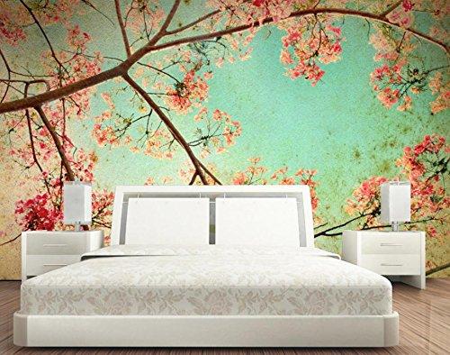 Mbwlkj 3D Custom 3-D-Effekt Modern Fashion Foto Tapete Wohnzimmer Bett Zimmer Desktops Wandbild Europäischen Romantische Blume Tapete-350Cmx245Cm -