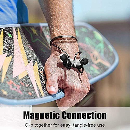 Arbily Bluetooth Kopfhörer, Y3 Sport Kopfhörer Leichter Magnetisch Stereo Noise Canceling Kopfhörer Wireless IPX7 Sweatproof In-Ear Sport Headset mit Mikrofon für Sport, Reisen und mehr(Silber) - 6