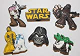 Star Wars Shoe Charms Set of 6, Shoes, Crafts, Cake Toppers * 52 *