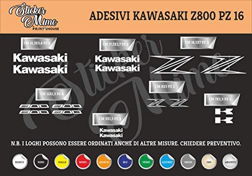 Kawasaki z800 Decalcomania Adesivi Stickers Sponsor Tecnici Moto Casco Motorbike Scegli Il Colore PEGATINAS Moto GP AUFKLEBER Decals AUTOCOLLANTS Motocross Motocicletta Partners COMPATIBILI