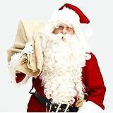 Tefamore Père Noël Perruque + Barbe Costume Set Accessoire Adulte Fancy Dress...