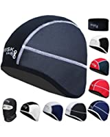 Brisk cycling skull cap under helmet thermal tight fit warm regular size