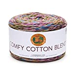 Lion Brand Yarn Comfy Blend Yarn, Cotton/Polyester, Stained Glass, One Size