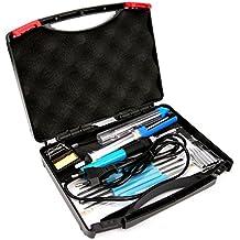 Kit del Soldador – Luxebell 17 Piezas 60W 220V soldador temperatura ajustable, Puntas Diferentes,