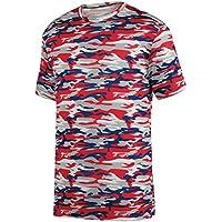 Augusta Sportswear Boys' Mod Camo Wicking Tee M Red Navy Mod