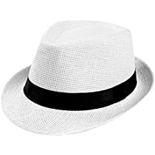 Sombreros Hombres Mujeres Sombrero de Sol Ceremonia Sombreros Fiesta Gorra  de Aire Libre Sombrero de Paja efb4d61876ff