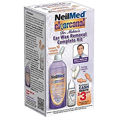 NeilMed Clearcanal Ear Wax Removal Complete Kit, 4.2 Fluid Ounce by NeilMed