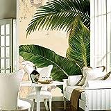 Mural Papel Fotográfico Personalizado Papel De Palma Tropical Hojas De Plátano Sala De Estar Moderna Pasillo Entrada Pared Mural Papel Tapiz,160Cm(H)×250Cm(W)