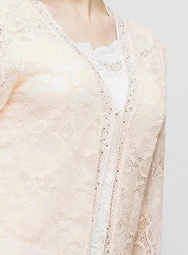 Veste gilet dentelle femme soirée cérémonie mariage Saumon