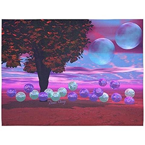 artsadd da parete Bubble Giardino, Astratto Rosa Azzurro saggezza in cotone e lino da parete 80x 60da parete decorazione da parete