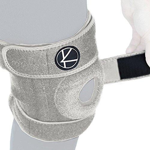 réglable pour le genou support pour l'arthrite, ACL, MCL, LCL, Sports, exercice, Ménisque, la guérison, la douleur–rotulienne en néoprène Stabilisateur Wrap pour femmes, hommes, enfants et plus Taille, gris, Size 3 (VERY BIG): Knee...