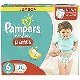 Taille 6 Boîte De Jumbo De Baby-Secs Pantalons De Pampers 58 Couches