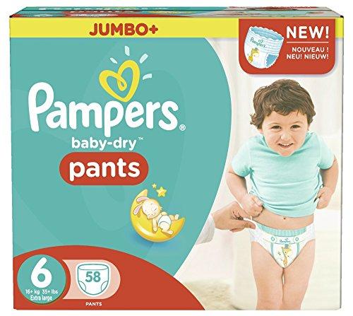 Preisvergleich Produktbild Pampers Baby Dry Pants Größe 6 Extra Large 16+kg Jumbo Plus Pack 58 Windeln