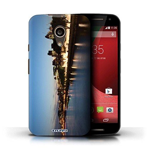 Kobalt® Imprimé Etui / Coque pour Motorola Moto G (2014) / Big Ben conception / Série Londres Angleterre Rivière Thames