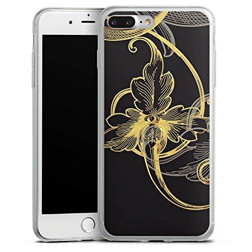 Apple iPhone 8 Plus Slim Case Silikon Hülle Schutzhülle Blume Blüte Floral Silikon Slim Case transparent