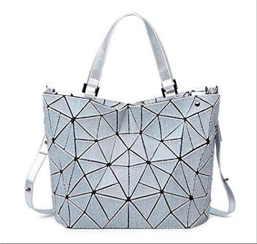 Grosse Kapazität Schulter Tasche für Frauen Geometrische Eimer Tasche Cross Body Bag Geldbörsen für Mädchen Jean Taschen mit großer Kapazität Geeignet für den täglichen Gebrauch ( Farbe : Grau )